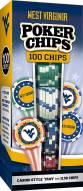 West Virginia Mountaineers 100 Piece Poker Chips