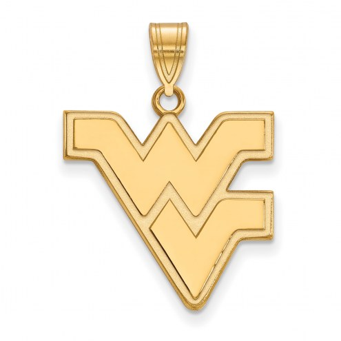 West Virginia Mountaineers 10k Yellow Gold Large Pendant