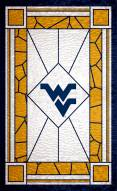 "West Virginia Mountaineers 11"" x 19"" Stained Glass Sign"