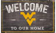 "West Virginia Mountaineers 11"" x 19"" Welcome to Our Home Sign"