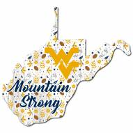 "West Virginia Mountaineers 12"" Floral State Sign"