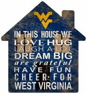 "West Virginia Mountaineers 12"" House Sign"