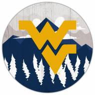 "West Virginia Mountaineers 12"" Landscape Circle Sign"