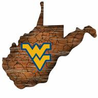 "West Virginia Mountaineers 12"" Roadmap State Sign"