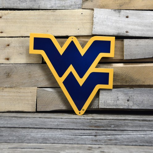 "West Virginia Mountaineers 12"" Steel Logo Sign"