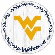 "West Virginia Mountaineers 12"" Welcome Circle Sign"