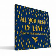 """West Virginia Mountaineers 12"""" x 12"""" All You Need Canvas Print"""