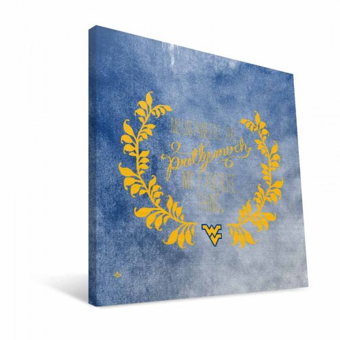 """West Virginia Mountaineers 12"""" x 12"""" Favorite Thing Canvas Print"""