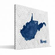 """West Virginia Mountaineers 12"""" x 12"""" Home Canvas Print"""