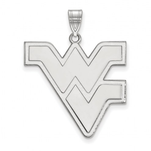 West Virginia Mountaineers 14k White Gold Extra Large Pendant