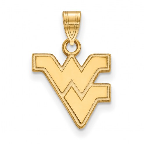 West Virginia Mountaineers 14k Yellow Gold Small Pendant