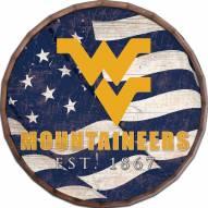 """West Virginia Mountaineers 16"""" Flag Barrel Top"""