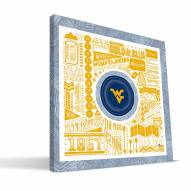 """West Virginia Mountaineers 16"""" x 16"""" Pictograph Canvas Print"""