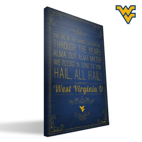 "West Virginia Mountaineers 16"" x 24"" Song Canvas Print"