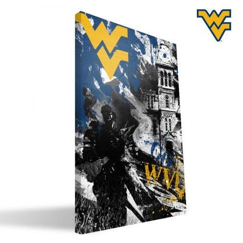 "West Virginia Mountaineers 16"" x 24"" Spirit Canvas Print"