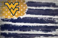 "West Virginia Mountaineers 17"" x 26"" Flag Sign"