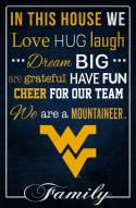 "West Virginia Mountaineers 17"" x 26"" In This House Sign"