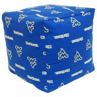 "West Virginia Mountaineers 18"" x 18"" Cube Cushion"