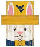 "West Virginia Mountaineers 19"" x 16"" Easter Bunny Head"