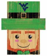 "West Virginia Mountaineers 19"" x 16"" Leprechaun Head"