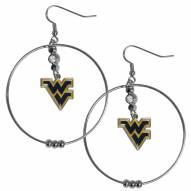 """West Virginia Mountaineers 2"""" Hoop Earrings"""