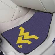 West Virginia Mountaineers 2-Piece Carpet Car Mats