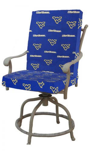 West Virginia Mountaineers 2 Piece Chair Cushion