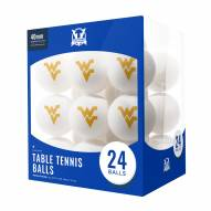 West Virginia Mountaineers 24 Count Ping Pong Balls
