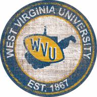 "West Virginia Mountaineers 24"" Heritage Logo Round Sign"