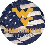"West Virginia Mountaineers 24"" Team Color Flag Circle Sign"