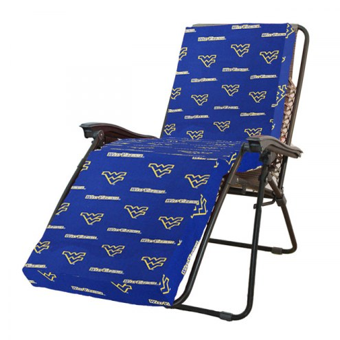 West Virginia Mountaineers 3 Piece Chaise Lounge Chair Cushion