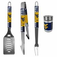 West Virginia Mountaineers 3 Piece Tailgater BBQ Set and Season Shaker
