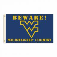 West Virginia Mountaineers 3' x 5' Beware Flag
