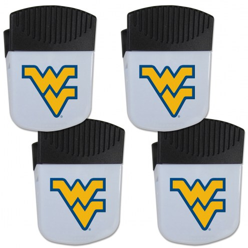 West Virginia Mountaineers 4 Pack Chip Clip Magnet with Bottle Opener