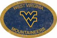 "West Virginia Mountaineers 46"" Team Color Oval Sign"