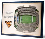 West Virginia Mountaineers 5-Layer StadiumViews 3D Wall Art