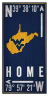 "West Virginia Mountaineers 6"" x 12"" Coordinates Sign"