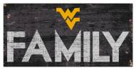 "West Virginia Mountaineers 6"" x 12"" Family Sign"