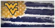 "West Virginia Mountaineers 6"" x 12"" Flag Sign"