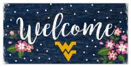 "West Virginia Mountaineers 6"" x 12"" Floral Welcome Sign"