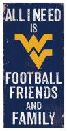 "West Virginia Mountaineers 6"" x 12"" Friends & Family Sign"