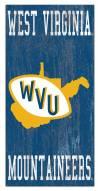 "West Virginia Mountaineers 6"" x 12"" Heritage Logo Sign"