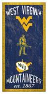 "West Virginia Mountaineers 6"" x 12"" Heritage Sign"
