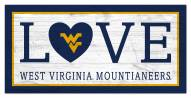 "West Virginia Mountaineers 6"" x 12"" Love Sign"