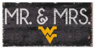 "West Virginia Mountaineers 6"" x 12"" Mr. & Mrs. Sign"
