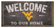 """West Virginia Mountaineers 6"""" x 12"""" Welcome Sign"""