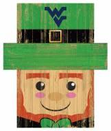 "West Virginia Mountaineers 6"" x 5"" Leprechaun Head"