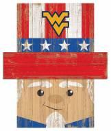 "West Virginia Mountaineers 6"" x 5"" Patriotic Head"