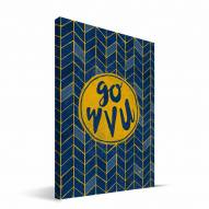 "West Virginia Mountaineers 8"" x 12"" Geometric Canvas Print"