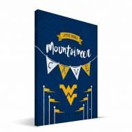 "West Virginia Mountaineers 8"" x 12"" Little Man Canvas Print"